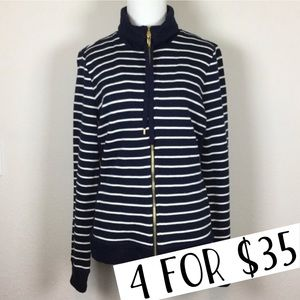 Lauren Ralph Lauren striped blue white jacket M